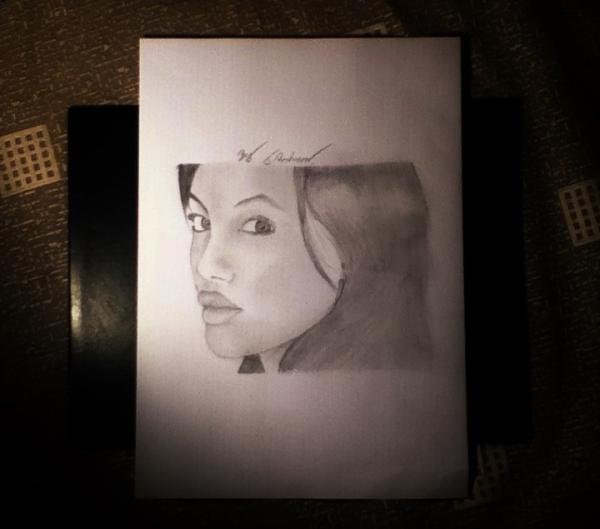 Angelina Jolie by jamesrowlinson